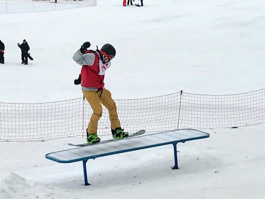 Competitors had three chances to fly over jumps, rails