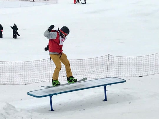 Competitors had three chances to fly over jumps, rails and boxes and were judged on style, difficulty and sportsmanship.