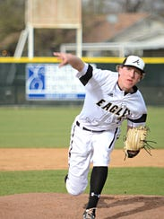 Abilene High's Ryan Johnson throws a pitch during the
