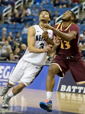 Iona's  David Laury, right, was named the men's preseason player of the year by the MAAC coaches.