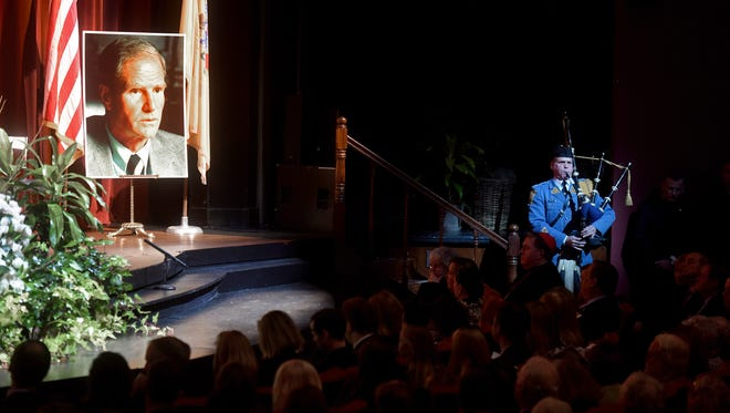 A memorial service for NJ Governor Brendan Thomas Byrne, Sr. was held at Paper Mill Playhouse on Monday, January 8, 2018.