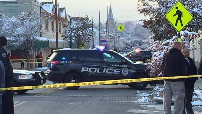 The scene of Monday's shooting in Lockland.