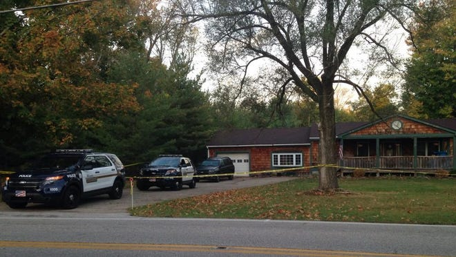 Scene of a Monday morning shooting on Wolfpen Pleasant Hill Road in Miami Township, Clermont County.