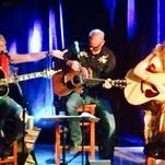 From left: Miranda Lambert, Jon Randall, Jessi Alexander, Natalie Hemby, Luke Laird and Courtney Cole at 3rd and Lindsley.