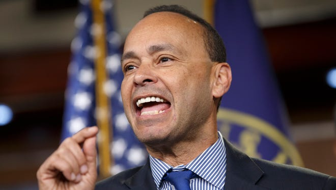 Rep. Luis Gutierrez, D-Ill., speaks at a news conference on immigration.