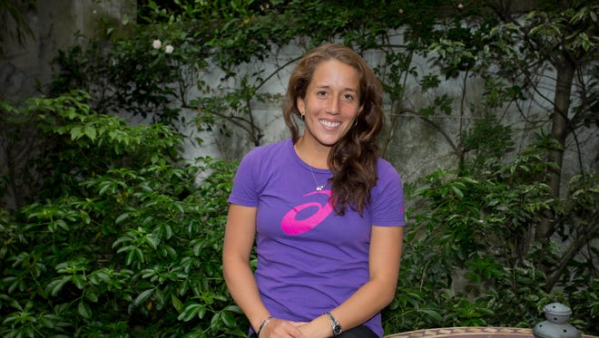 Irina Falconi (USA) at her airbnb.com apartment rental in Paris on May 28, 2015. She has advanced to the third round of the French Open.