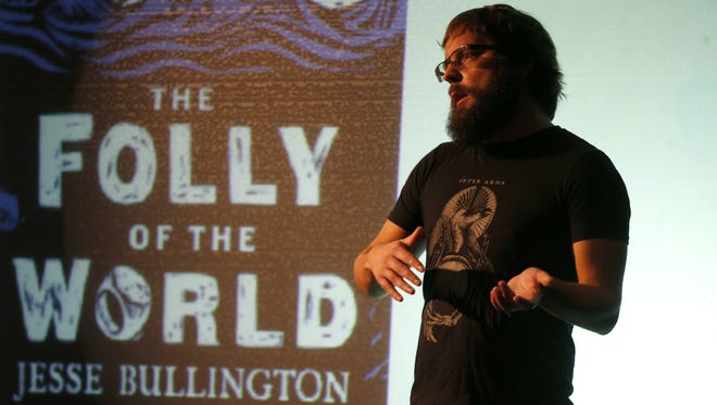 Author and 2000 SAIL High School graduate Jesse Bullington, returned to the school on Friday to talk with students about his published historical fiction and technical writing work. The talk was a part of a program run by the high school that brings alumni back to the school to speak to current students.