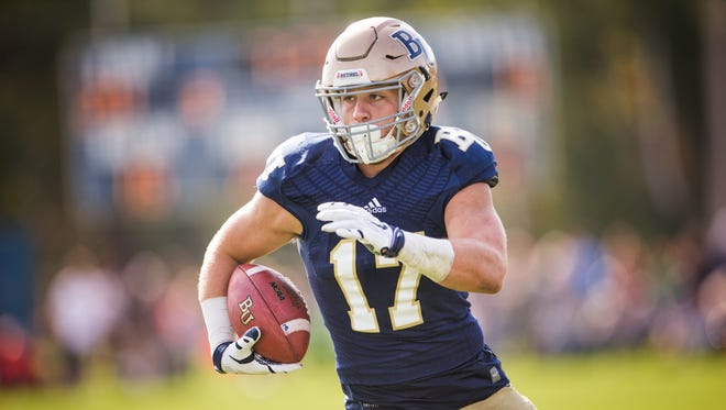 Bethel University senior tight end and Bay Port alum Drew Neuville was named to the was one of 24 college football players named to the 25th anniversary Allstate American Football Coaches Association Good Works Team, which recognizes the community service efforts of players.