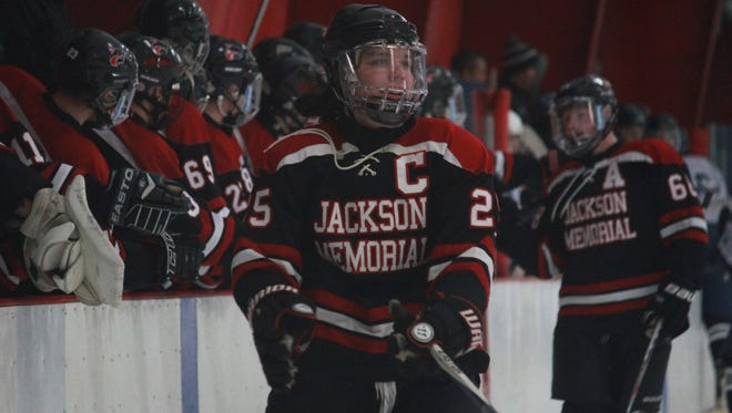 Trevor Cear celebrates his goal in Jackson Memorial's 4-1 win over Middletown South in the Handchen Cup Semifinals.