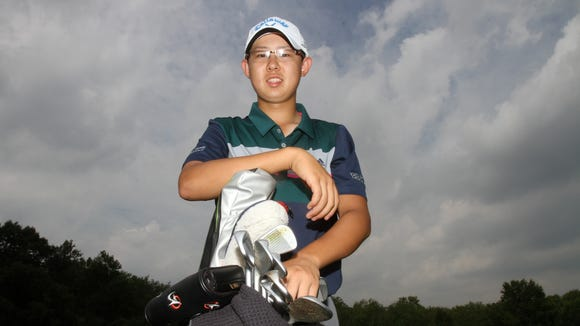 Somers sophomore Nathan Han is the boys golf athlete