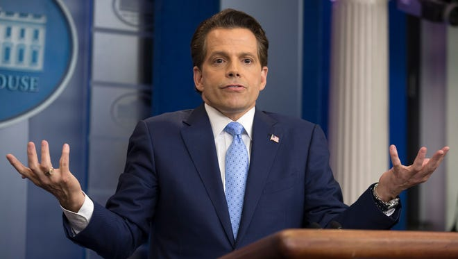 White House Communications Director Anthony Scaramucci attends a news conference at the White House after former White House Press Secretary Sean Spicer resigned July 21.