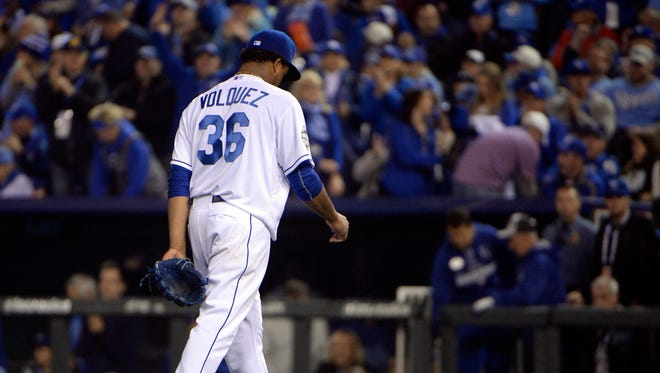 Edinson Volquez found about the death of his father after he was taken out of the game in the sixth inning.