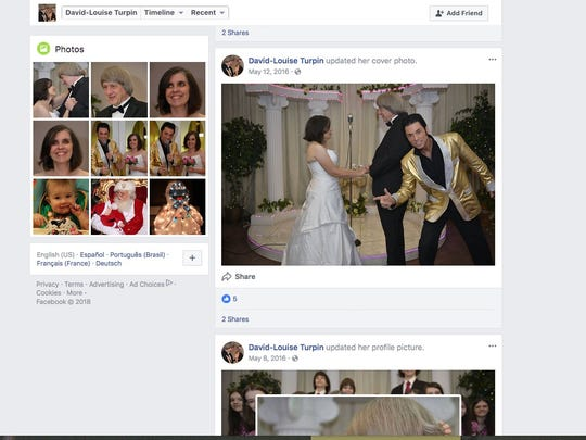 This is David Allen Turpin's Facebook page. David Allen Turpin, 57, and Louise Anna Turpin, 49, were charged Sunday with torture and child endangerment, the Sheriff's Department said. The parents were being held in jail in lieu of $9 million bail on child abuse charges. The six children -- including the 17-year-old who escaped -- are being treated at Riverside University Health System Medical Center in Moreno Valley. The seven adults are being treated at Corona Regional Medical Center in Corona, authorities said.