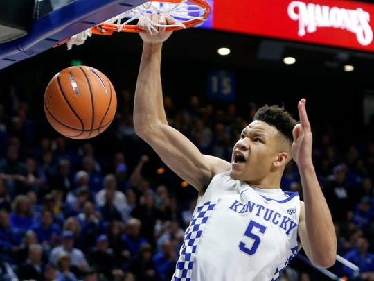 Kentucky F Kevin Knox could be a target for the Knicks at No. 9.