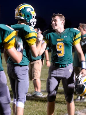 Northeastern defeated Winchester 34-16 in a Tri-Eastern Conference football game Friday, Aug. 25, 2017.