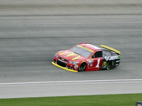 Jamie McMurray drives Friday during practice for the NASCAR Sprint Cup Series race at Chicagoland Speedwa in Joliet, Ill.