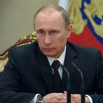 Russian President Vladimir Putin chairs a meeting with Security Council members in the Kremlin in Moscow last week.