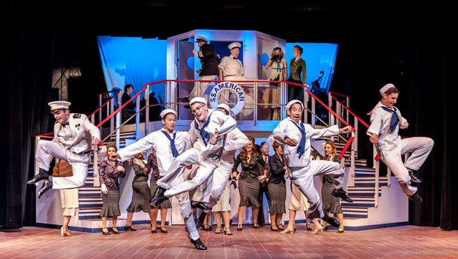 """Sailors join the air force in a scene from Sunset Playhouse's """"Anything Goes."""" in 2016. Sunset Playhouse, in Elm Grove, is among the troupes holding auditions for fall productions."""