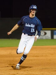 Salem Hills' Tanner Hamblin rounds the bases after