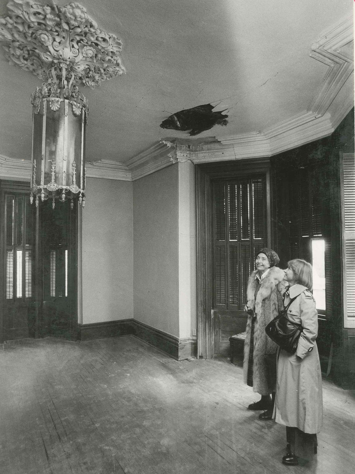 Texas Historical Commission members tour the Fulton Mansion in January 1978. The state purchased the mansion in 1976 for about $150,000.