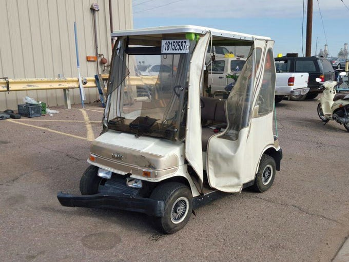 The golf cart was minimally damaged in the low-speed