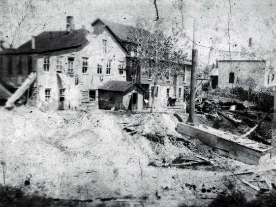 The original Lansing Button factory, established in
