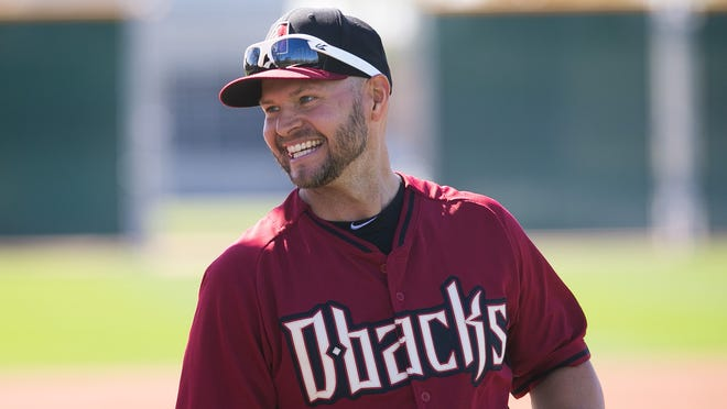 Arizona Diamondbacks outfielder Cody Ross  during spring training team workouts at Salt River Fields at Talking Stick on Monday, February 24, 2014. Michael Schennum / The Arizona Republic