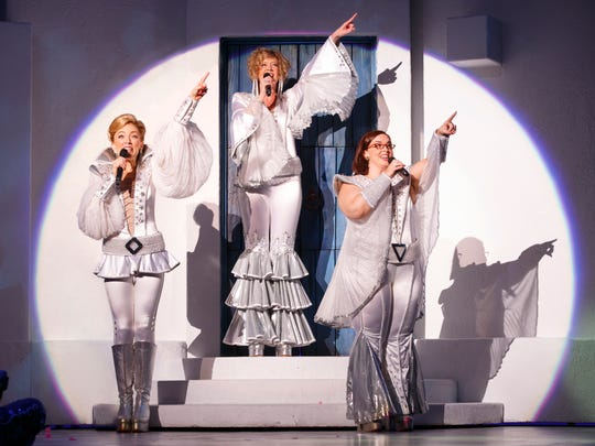 """The cast of """"Mamma Mia!"""" gets their disco on."""