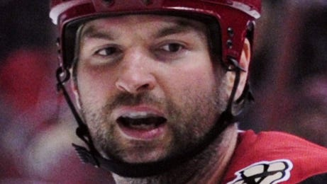 Dec 17, 2015: Arizona Coyotes left wing John Scott (28) and Columbus Blue Jackets right wing fight during the second period at Gila River Arena.