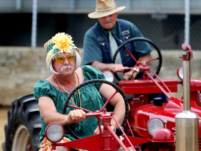 Square Dancing Tractors perform during the first of two shows on Wednesday, August 6, 2014 at the Hoosier Lottery Grandstand at the Indiana State Fair in Indianapolis. A second performance is scheduled at 7 p.m.