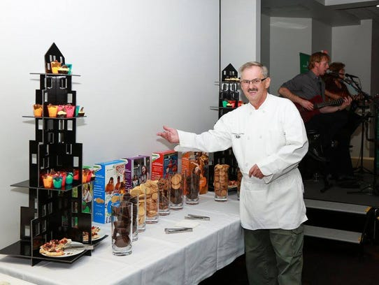 Creative Catering chef and owner Mark Larson proudly