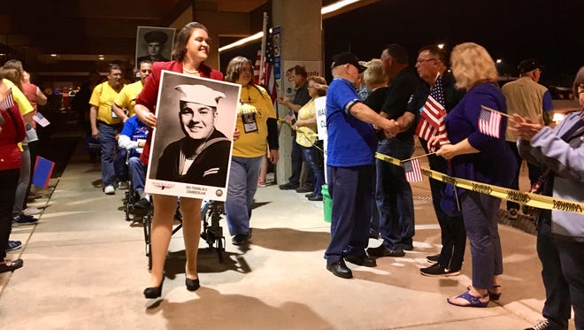 Honor Flight of Southern Indiana welcome home parade.