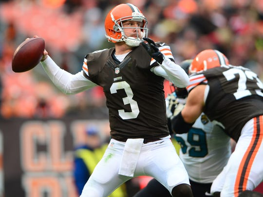 Brandon Weeden was a first-round pick of the Cleveland Browns in the 2012 NFL Draft, but he was released by the team after compiling a 5-15 record in two seasons.