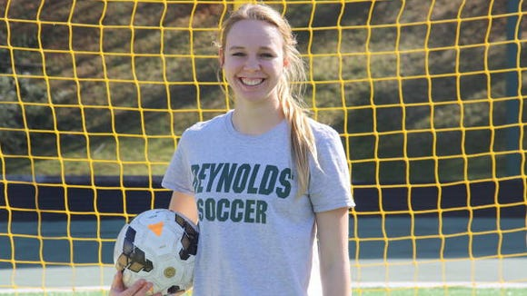 Reynolds senior Christina Shimshock has 26 goals this season after Tuesday night's home win over Hendersonville.