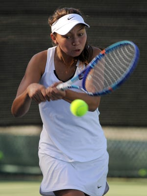 Senior Sophie Bendetti is a singles leader for the Oaks Christian girls tennis team. She will play doubles next year at UCLA.