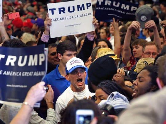 trump rally black lives matter