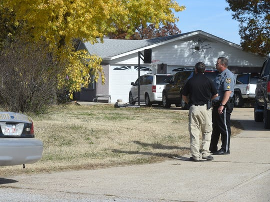 Baxter County Sheriff's Office members work the scene