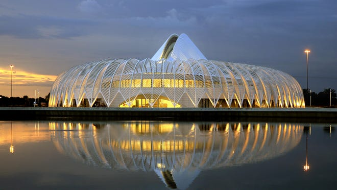The Innovation, Science & Technology building on the campus of Florida Polytechnic University in Lakeland.