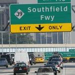 Southfield Freeway sign