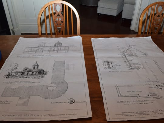 The new owners have blueprints of how their house at 96 Florence St. was originally planned.