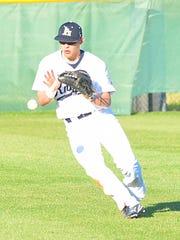 Pope John Paul II High junior rightfielder Jordan Weems fields a third-inning single.