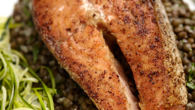 Seared Salmon with Moroccan Spice Crust recipe from The Culinary ...