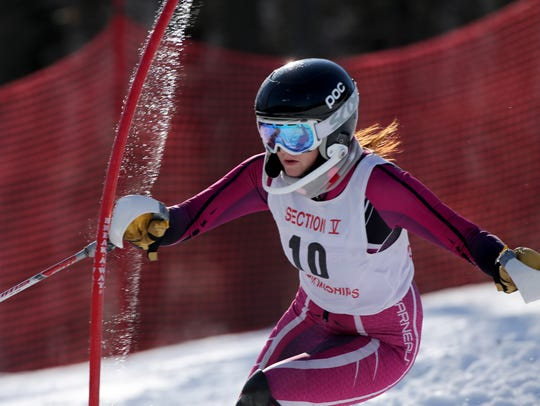 Winifred Hotchkiss at Section V girls Alpine skiing