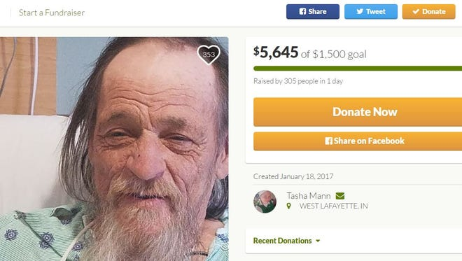 Donors contributed more than $5,000 in one day to a crowdfunding campaign to help Steve Downey, better known as State Street Steve, after he gets out of the hospital. Downey, a homeless man, has been a fixture near the Purdue campus for decades.