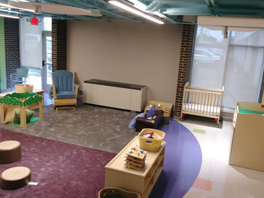 A view of an Early Head Start classroom at the Cortland Community Impact Center.