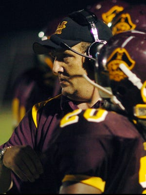 Milford coach Mike Tkach watches action from the sidelines during a 2009 game.