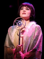 """Andrea Goss as Sally Bowles in the 2016 national touring cast of Roundabout Theatre Company's """"Cabaret."""""""