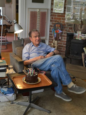 Artist Irving Harper at his Rye home. Harper, who is 98, has been described as the greatest American designer most people have never heard of. Some of his most iconic work, including the marshmallow sofa and the starburst clock, were attributed to his boss, George Nelson.