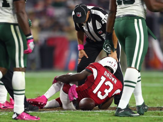 Oct 17, 2016: Arizona Cardinals wide receiver Jaron