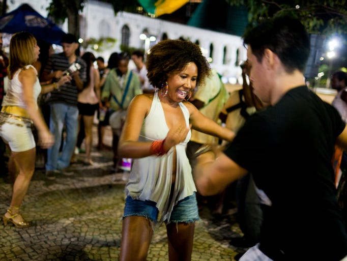The Lapa neighborhood of Rio can make New Orleans' Bourbon Street look tame. On Friday and Saturday nights, people from all over the city converge on Lapa to dance and drink till dawn.